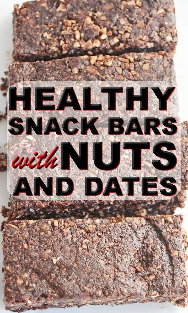 Snack Bar with Chocolate Nuts and Dates | EAT CLEAN, GET LEAN 💚 BECAUSE your health is important!  |...