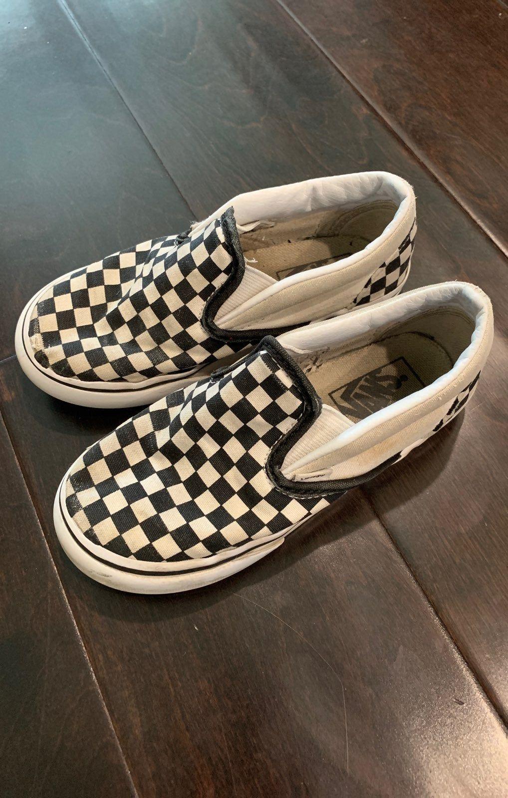 Used checkered vans Size 9.5 k   Vans