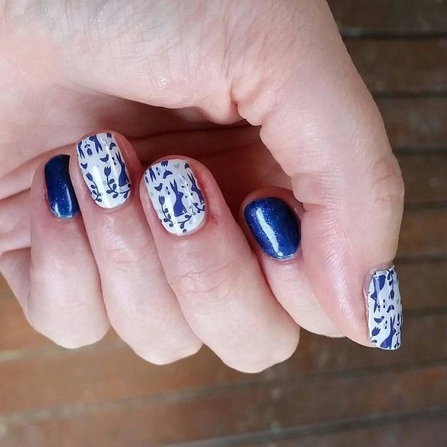 Love this beautiful blue manicure jamberry intergalactic blue love this beautiful blue manicure jamberry intergalactic blue trushine gel enamel that you can do solutioingenieria Choice Image