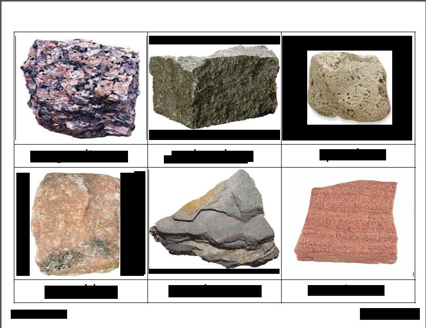 rock classification cards