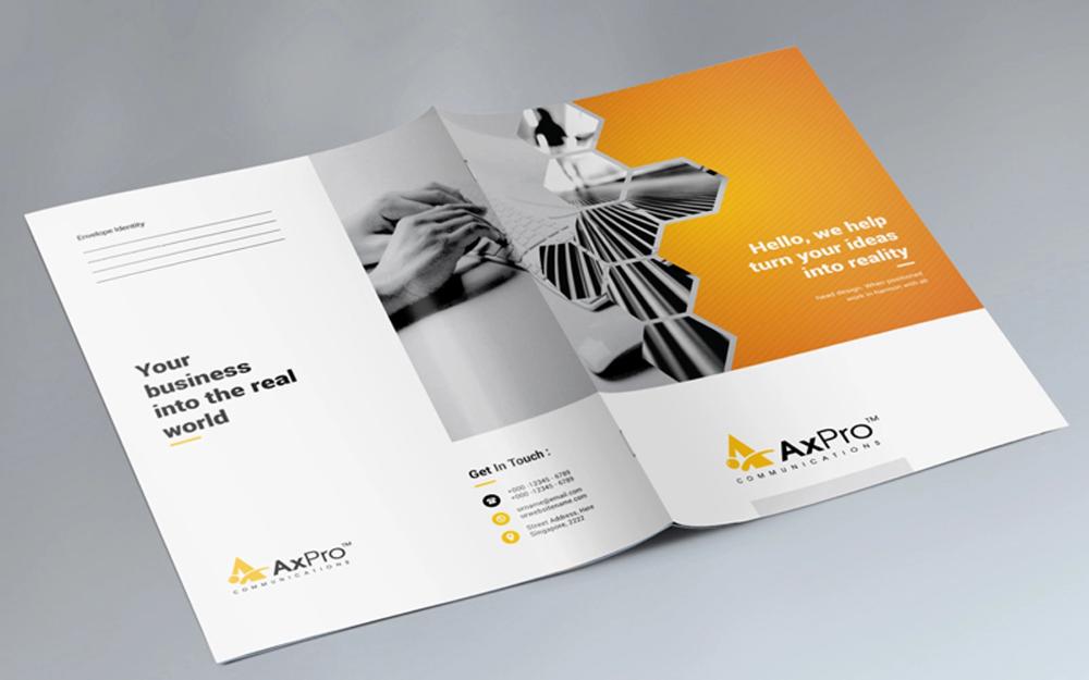 Business Presentation Folder Corporate Identity Template
