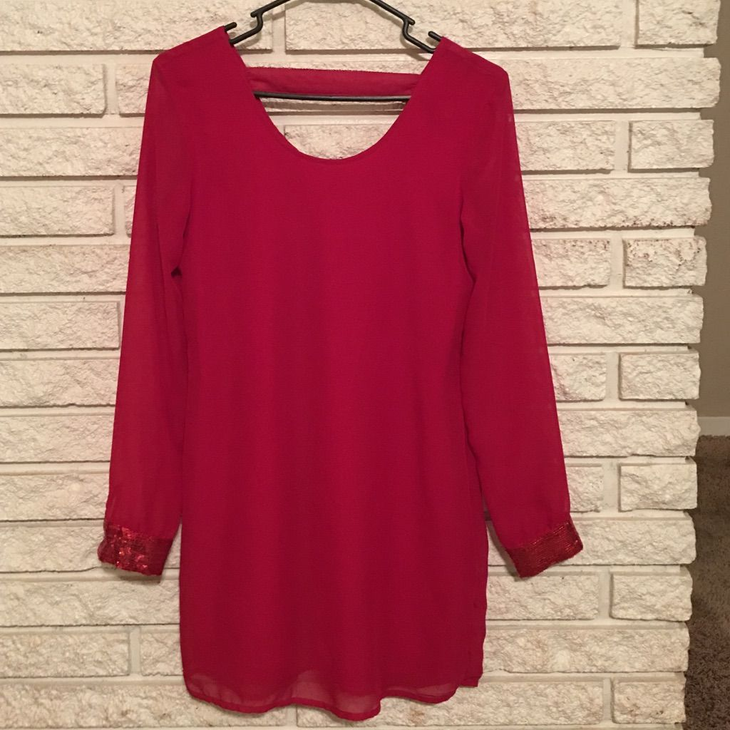 Red long sleeve dress products