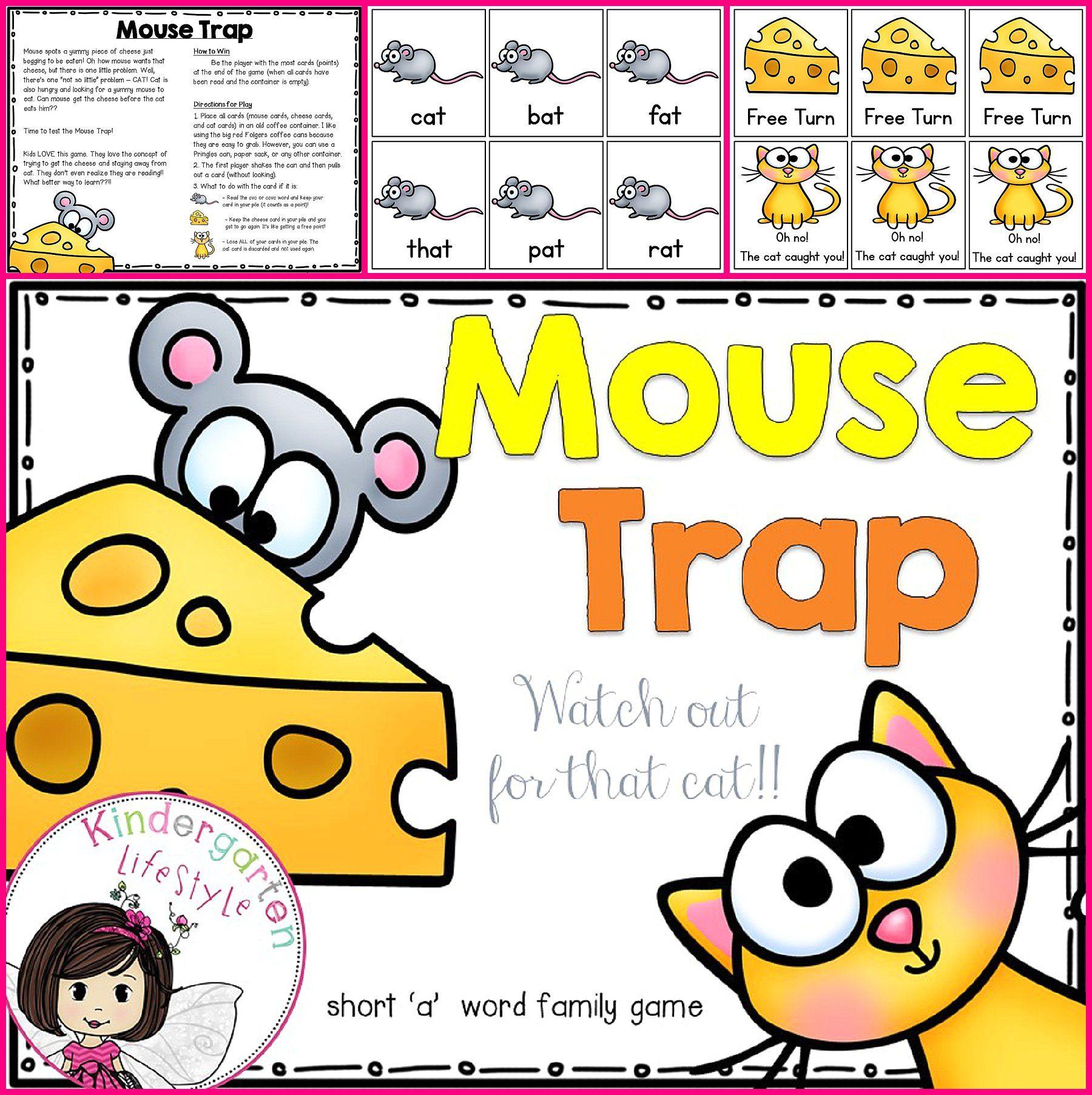 Mouse Trap CVC Words Cvc words, Alphabet games for