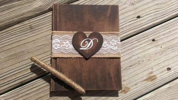 autumn wedding guest books