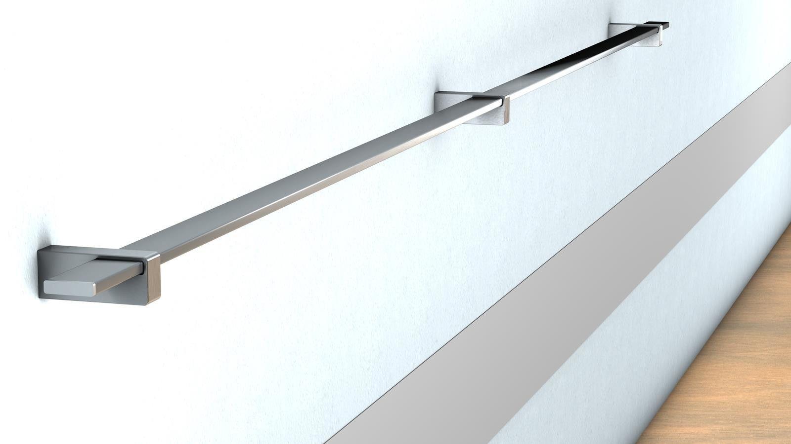 Farbe:Schwarz Edelstahl Handlauf Treppengel/änder Gel/änder Wandhandlauf Wand Treppe 3 Farben 50-200 cm V2Aox L/änge:50 cm