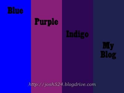 Indigo is the color I want, not purple, not blue