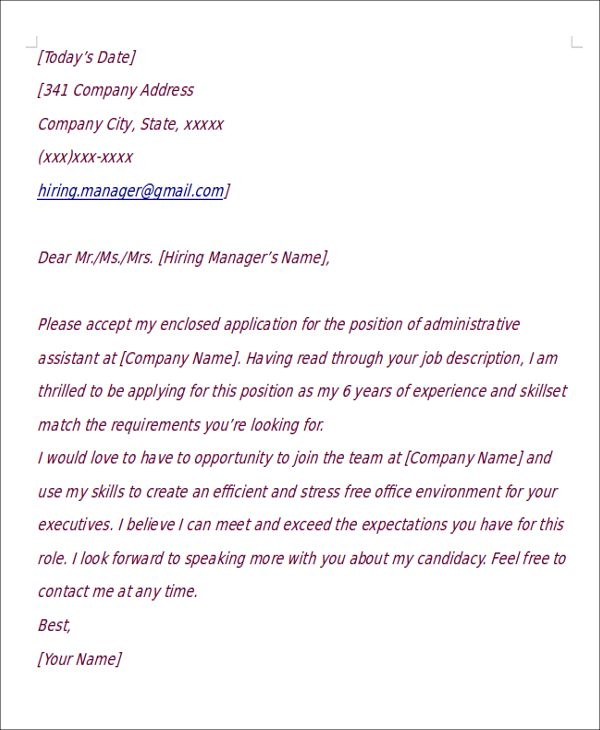 Cover Letter Template, Cover
