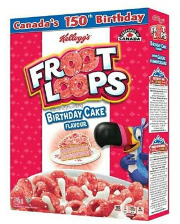 Froot Loops Birthday Cake Flavour Canada 150th Birthday