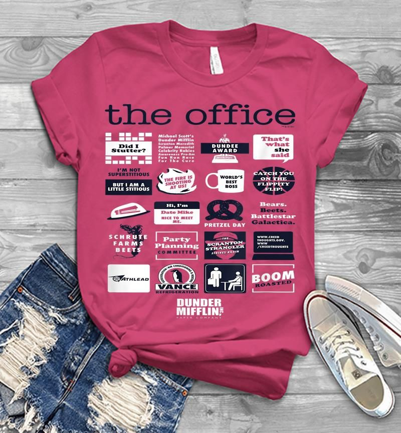 The Office Quote Mash-up Funny - Official Mens T-shirt