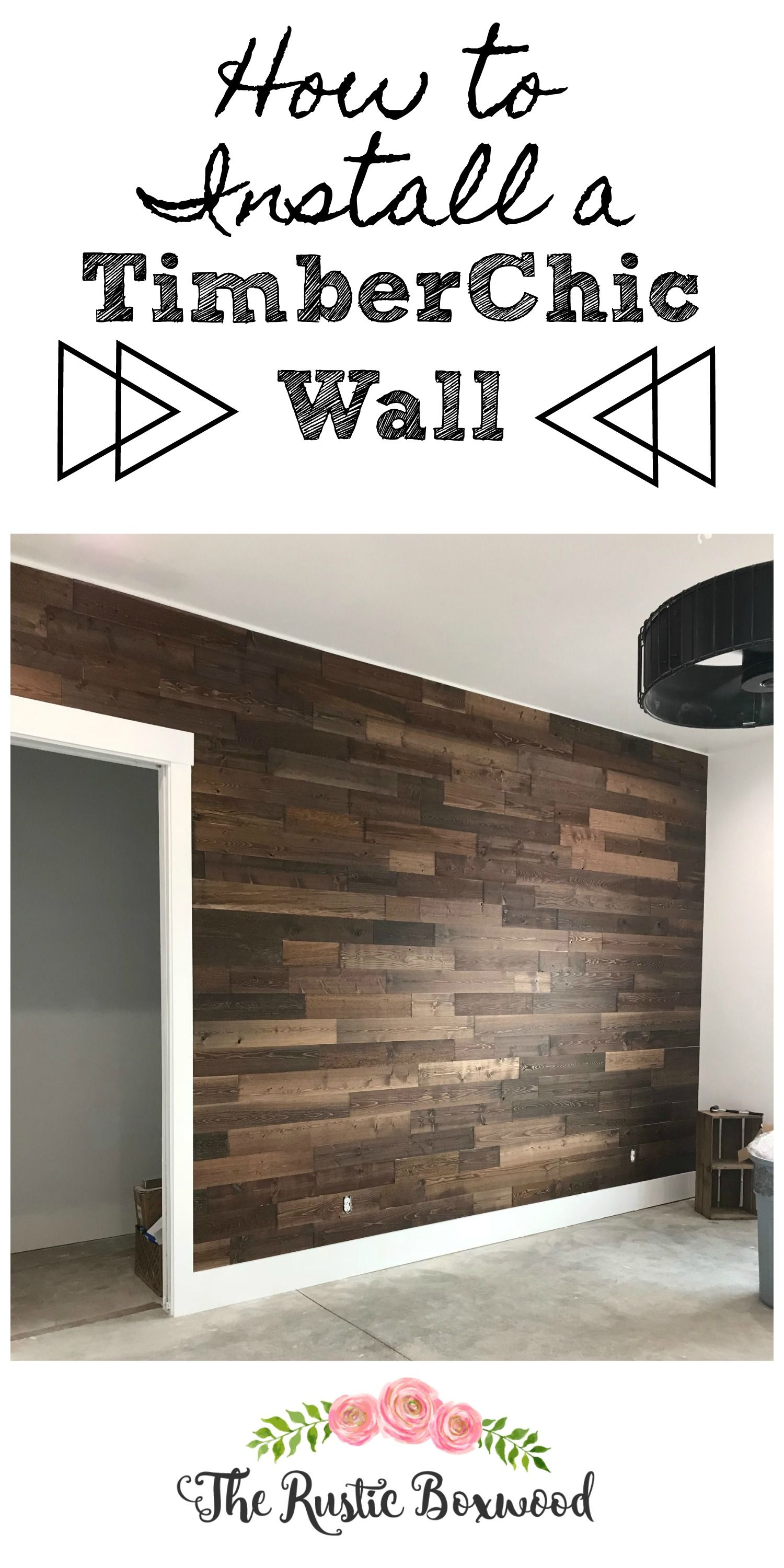 This Timberchic Statement Wall Would Be Perfect For A Rustic Master Bath Statement Wall Wood Wall Bathroom Wall Planks