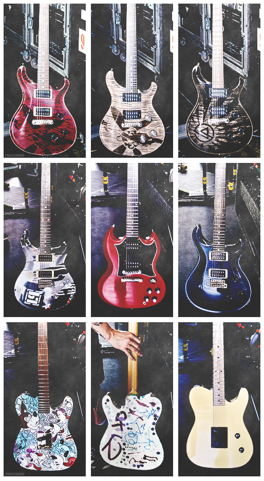 Awh Thats So Cool Linkin Park Guitars Basically My Favourite Band