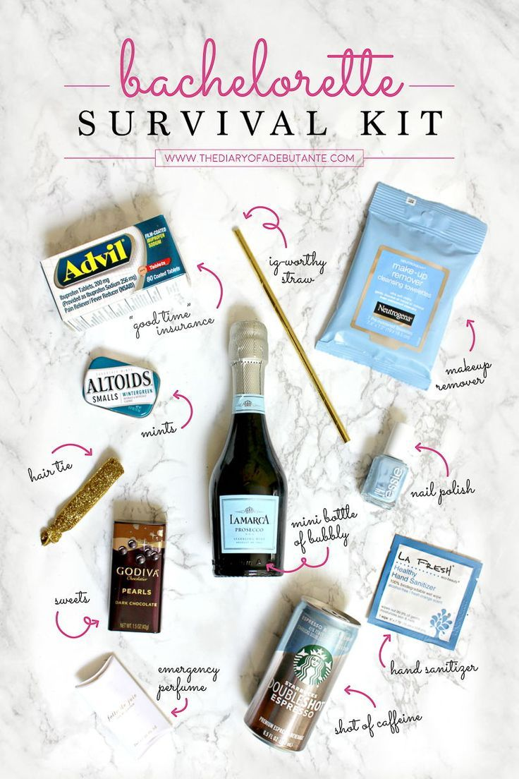 DIY Bachelorette Survival Kit #bachelorettepartyideas