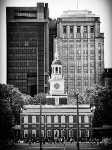 Independence Hall and Pennsylvania State House Buildings, Philadelphia, Pennsylvania, US Photographic Print by Philippe Hugonnard at AllPosters.com