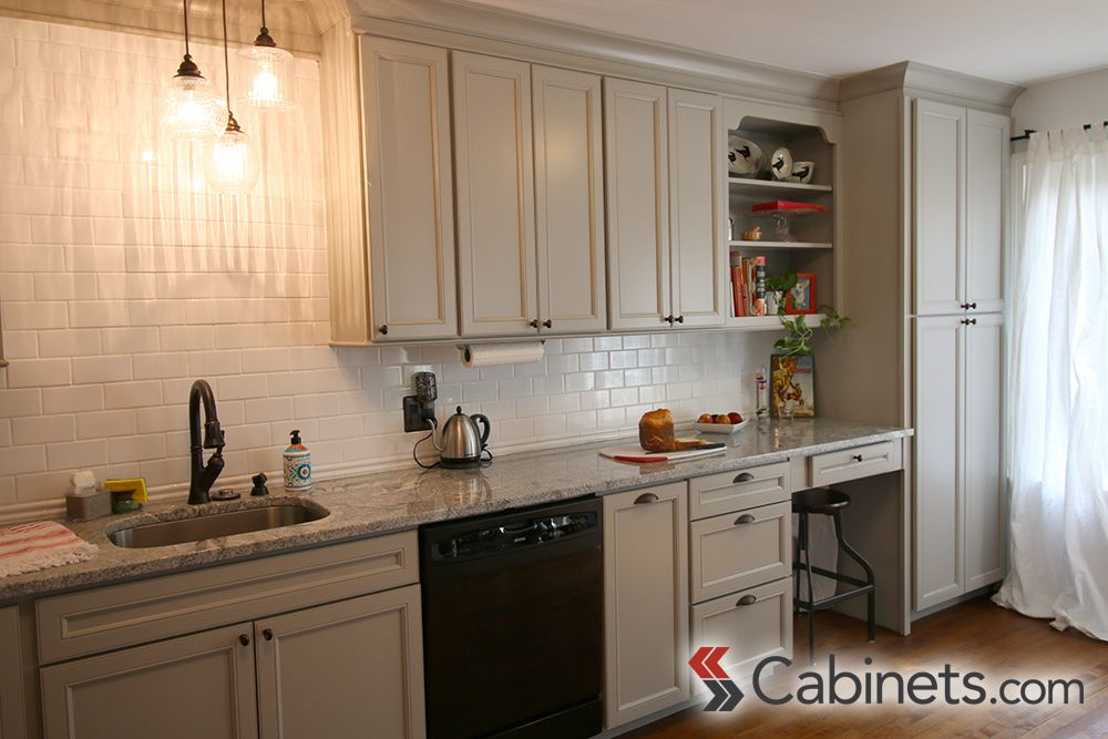 our deerfield belleair maple willow gray cabinets look great paired rh pinterest com