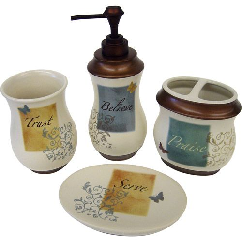 Butterfly Blessings 4pc Bath Accessory Set For My Bathroom Can T Decide On