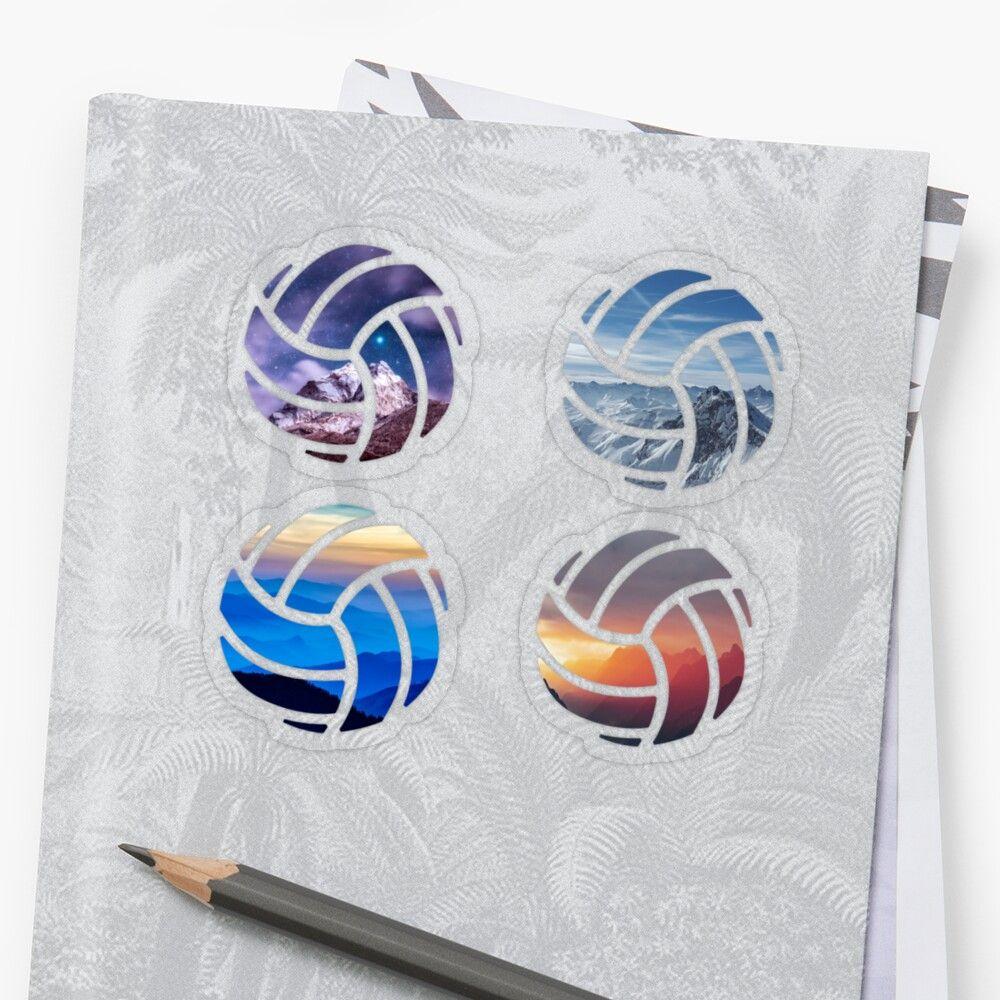 Mountain Volleyball Sticker Set Sticker By Maddy Drye Sticker Set Vinyl Sticker Stickers