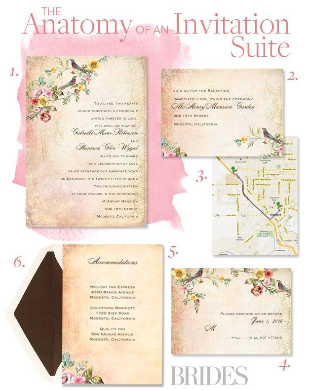 Here S Exactly What Goes In The Stationery Suite Plus Unexpected Wording Etiquette Rules From An Invitation Expert