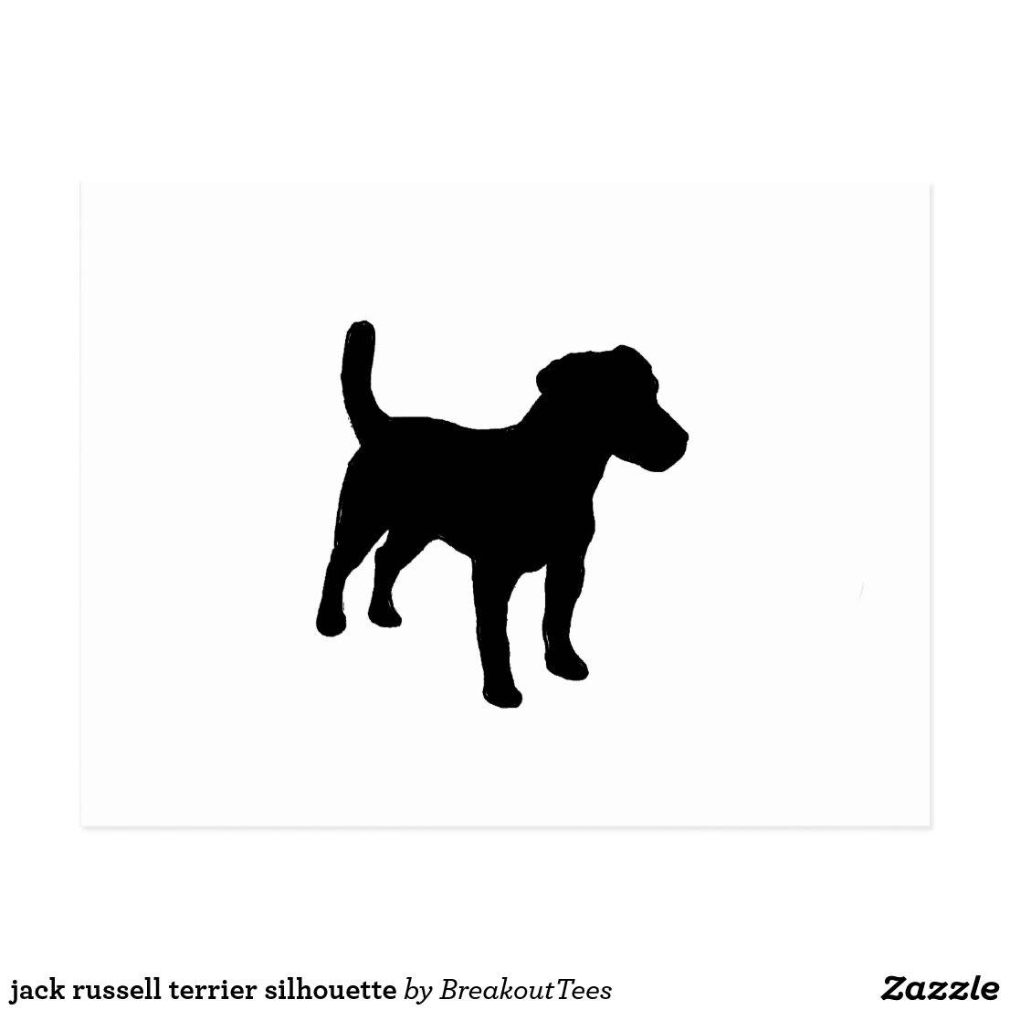 Jack Russell Terrier Silhouette Postcard