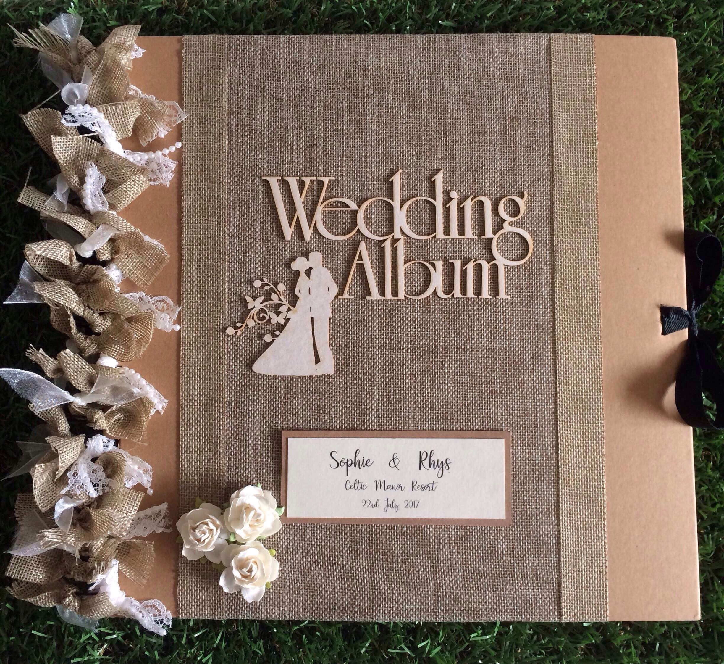 PERSONALISED HANDCRAFTED WEDDING DAY SCRAPBOOK MEMORY PHOTO ALBUM GIFT MULTI USE