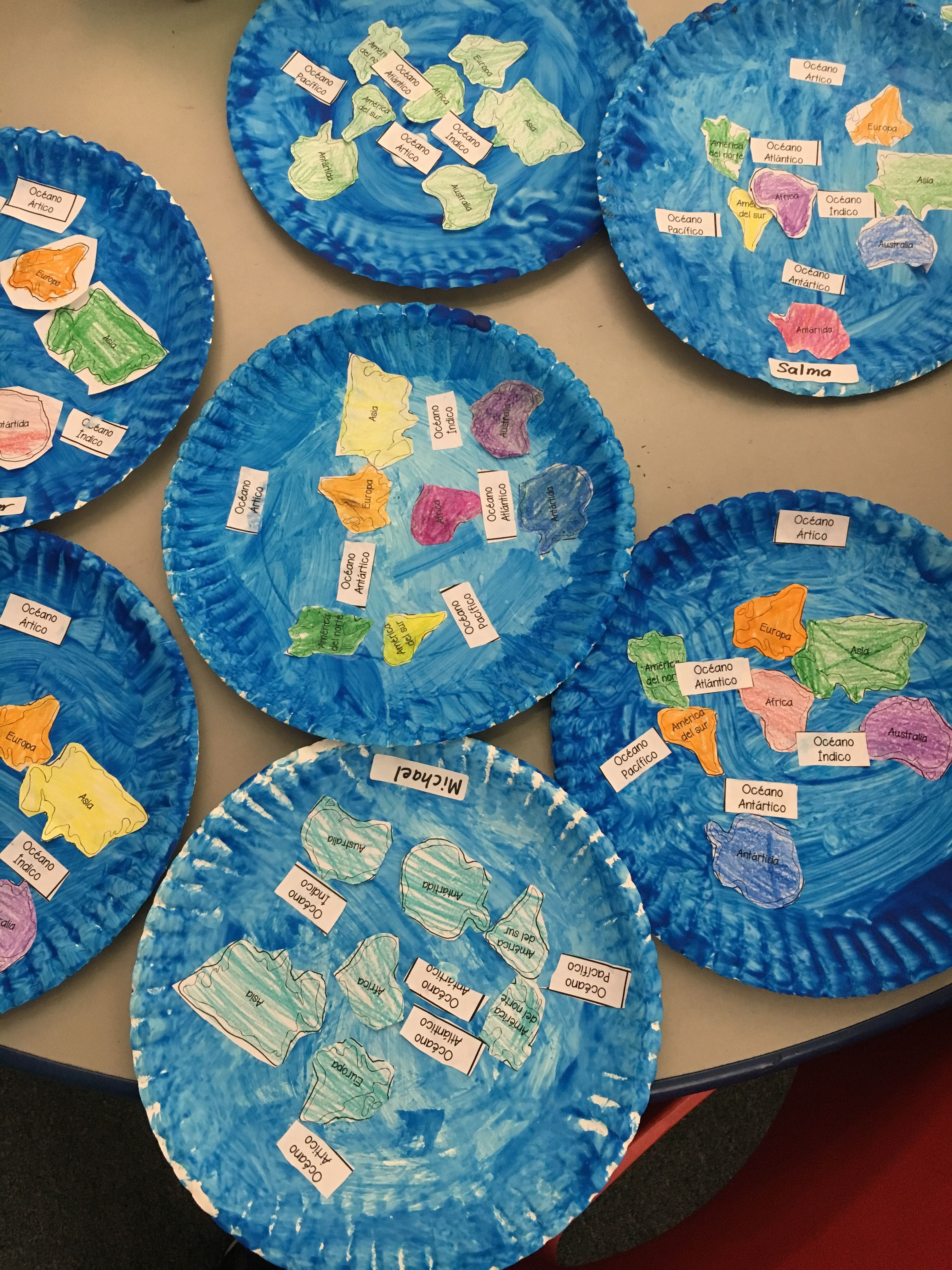 Continents And Oceans Plate Craft