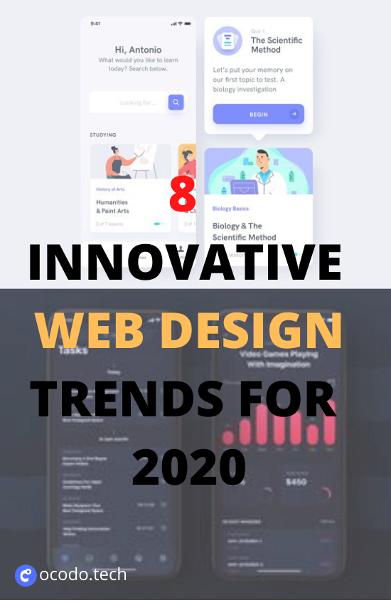 8 Innovative Web Design Trends For 2020 In 2020 Web Design Minimal Web Design Website Header Design