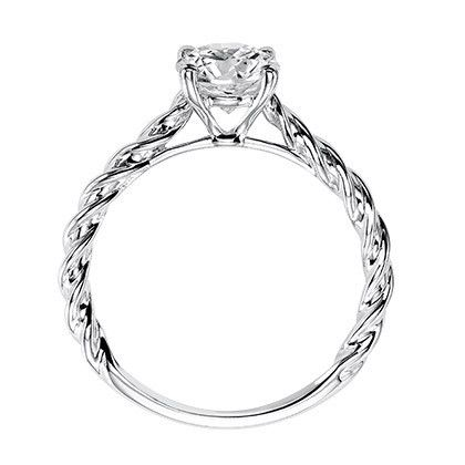 Artcarved Joanna Solitaire Rope Twist Diamond Engagement Ring