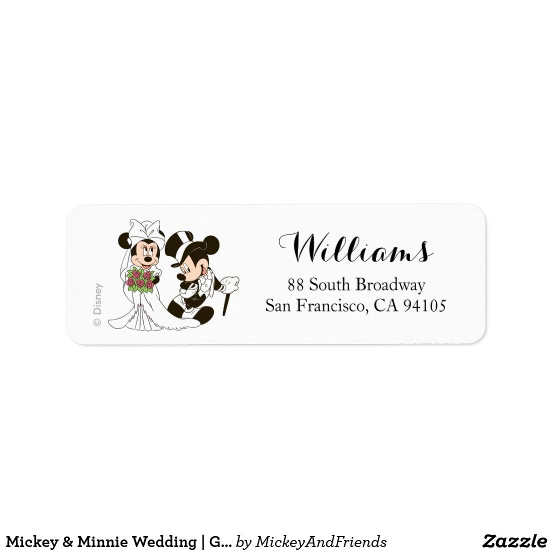 mickey minnie wedding getting married label pinterest disney