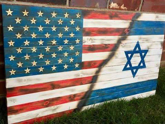 American Flag Israel Flag Wood Flag Wood American Flag Wooden