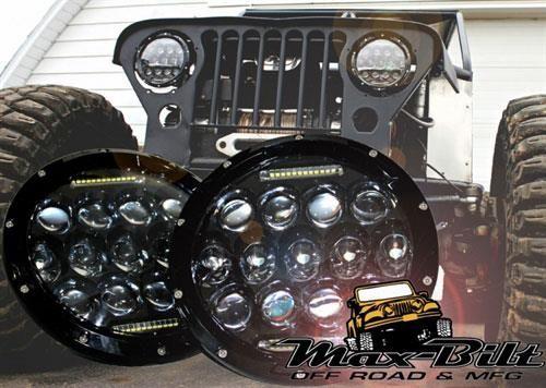 Max Bilt 7 Inch Round Led Headlights Clear Tt75hl Led Headlights Headlights Jeep Wrangler Accessories