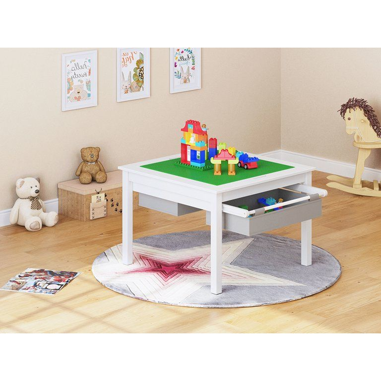 Lego Table With Storage, Utex Lego Table With Chairs