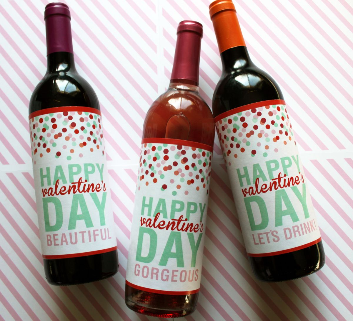 printable valentines day wine labels - Valentines Day Wine