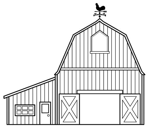 Simple Barn Farm Coloring Pages Farm Animal Coloring Pages House Colouring Pages