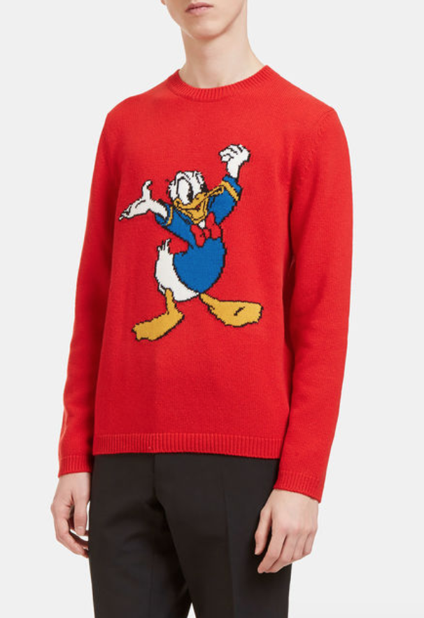 Donald Duck Sweater Gucci Aspirational Gucci Sweaters Outfits