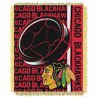 """Chicago Blackhawks Blanket 46""""x 60"""" Throw NHL Officially Licensed Fringe Edge"""