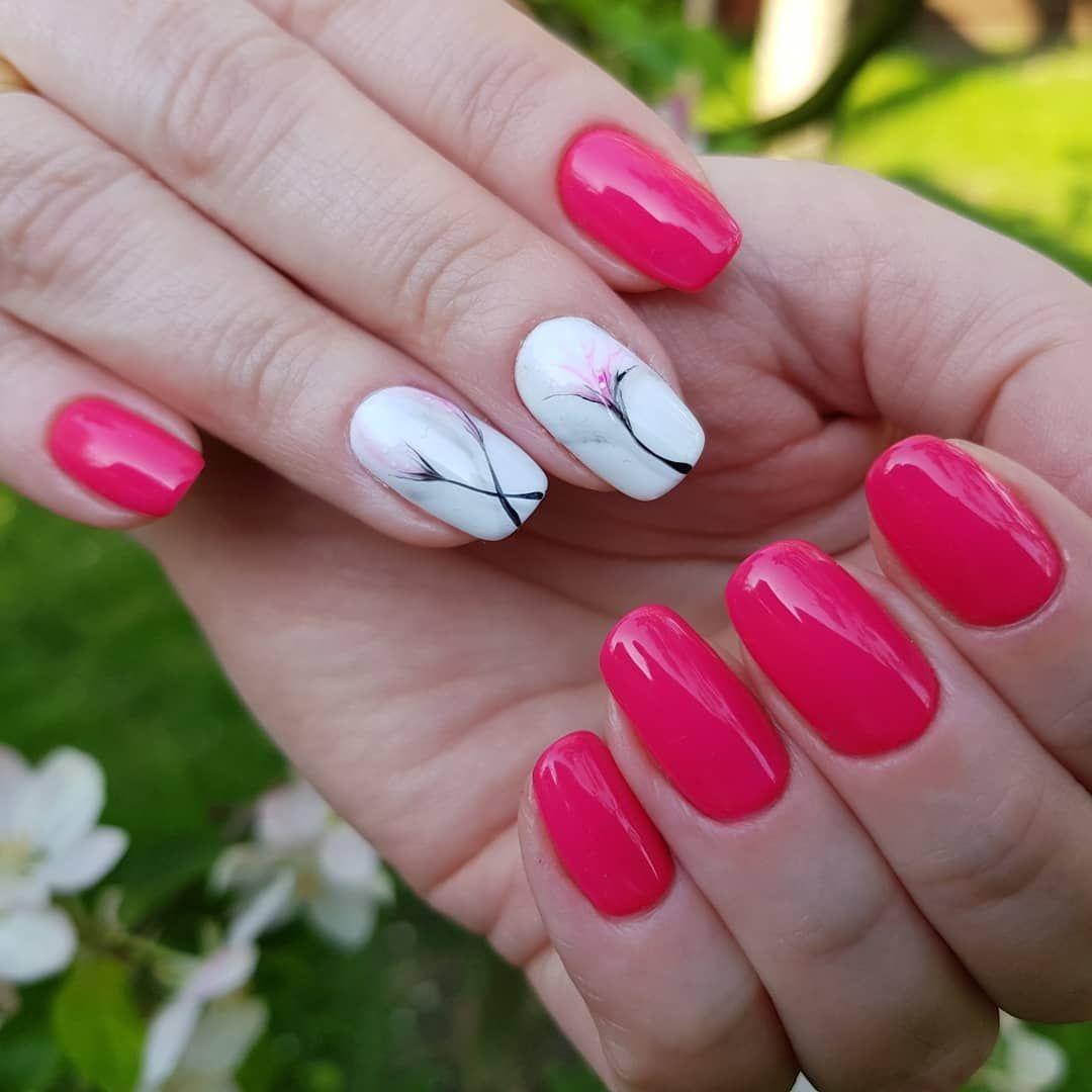 My New Love Color Matrioshka Paznokciehybrydowe Manicurehybrydowy Matrioshka Indigo Flowers Colornails Reczniemalowane Springnails H Nails Beauty