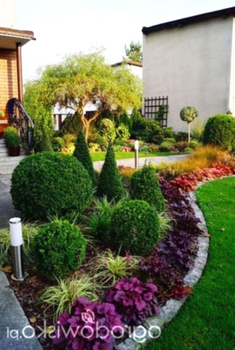 46 Simple Landscape Design Ideas For Beautiful Gardens Front