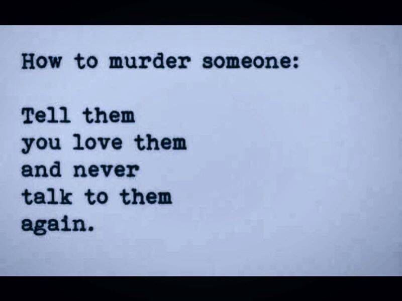 How to murder someone with words ;