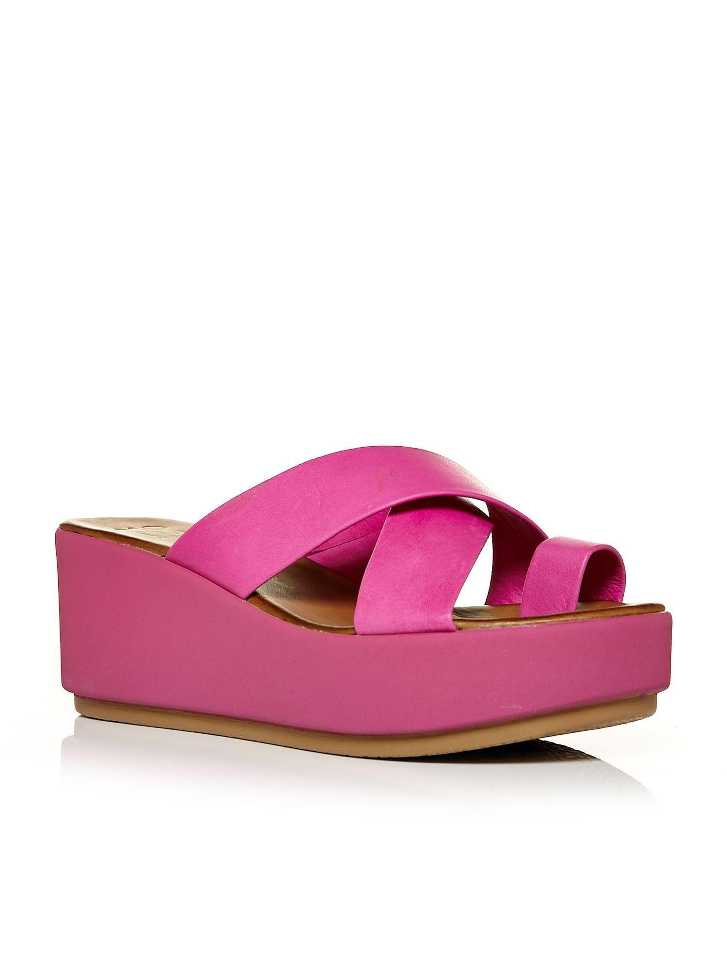 Moda in Pelle Primki flatform sandals, Fuchsia