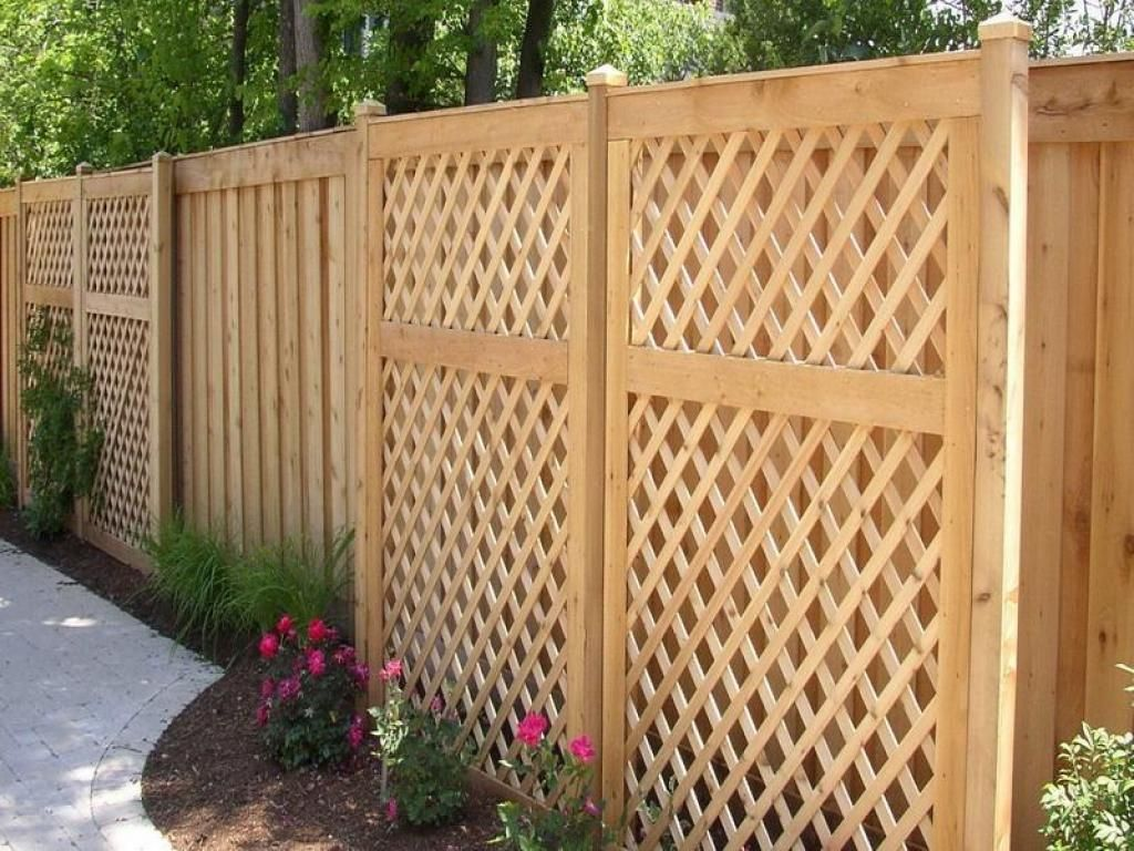 artistic wood backyard design fence with nice design fence at the