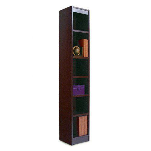 Alera 12 Inch Narrow Profile Veneer Bookcase Alebcs67212my Bookshelf Wide