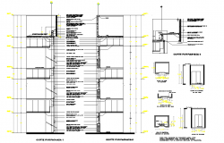 Lift elevator plan and section autocad file   block