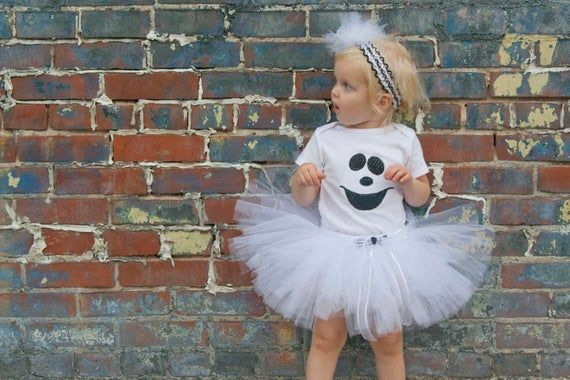Baby Girl Halloween Costume - Ghost Tutu Costume - Girl Ghost Outfit - Halloween Tutu Costumes #pumpkinpatchoutfit
