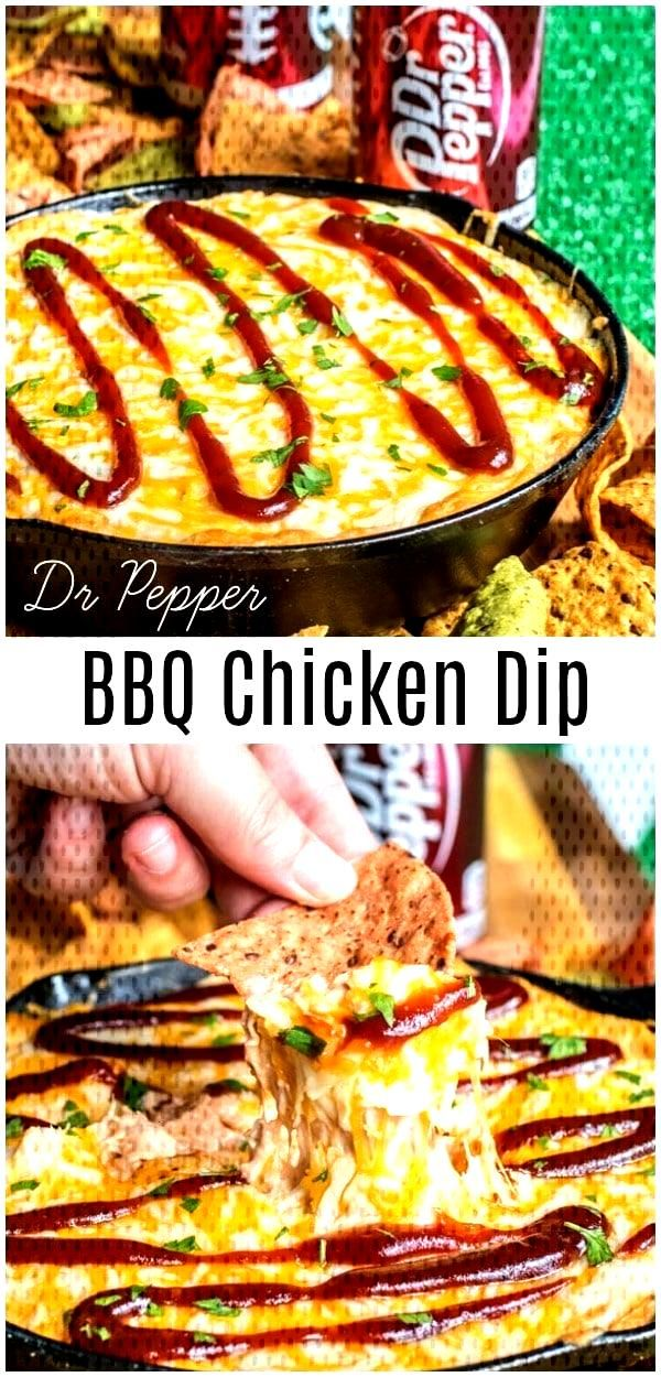 Dr Pepper BBQ Chicken Dip This easy Dr Pepper BBQ Chicken Dip is the perfect recipe for football se