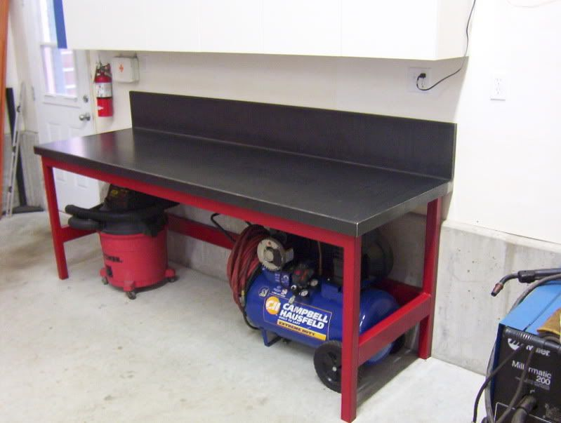 Man Cave Garage Journal : Ideas for workbench top ? the garage journal board