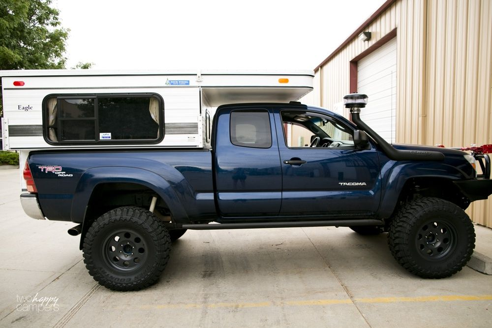 Four Wheel Drive Truck W Pop Up Camper For Survival