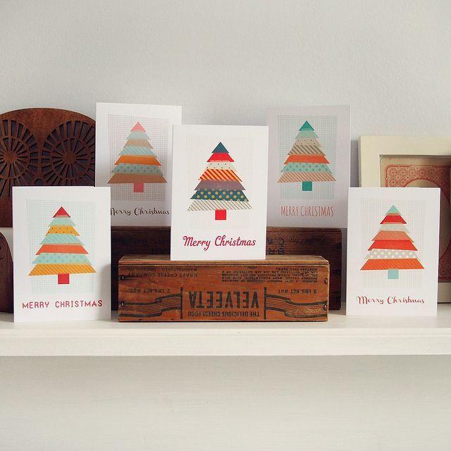 Washi Tape Cards | Christmas Washi Tape Cards