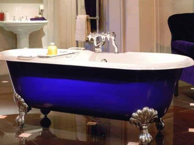 Baignoire Baroque Bleue Blue Baroque Bathtub Http Www Maison