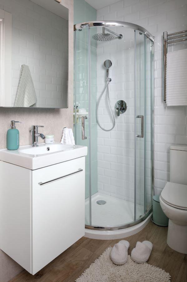Tener un baño completo y totalmente funcional en unos pocos metros ...