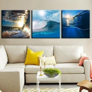 Surf All Day Long Multi Panel Canvas Wall Art