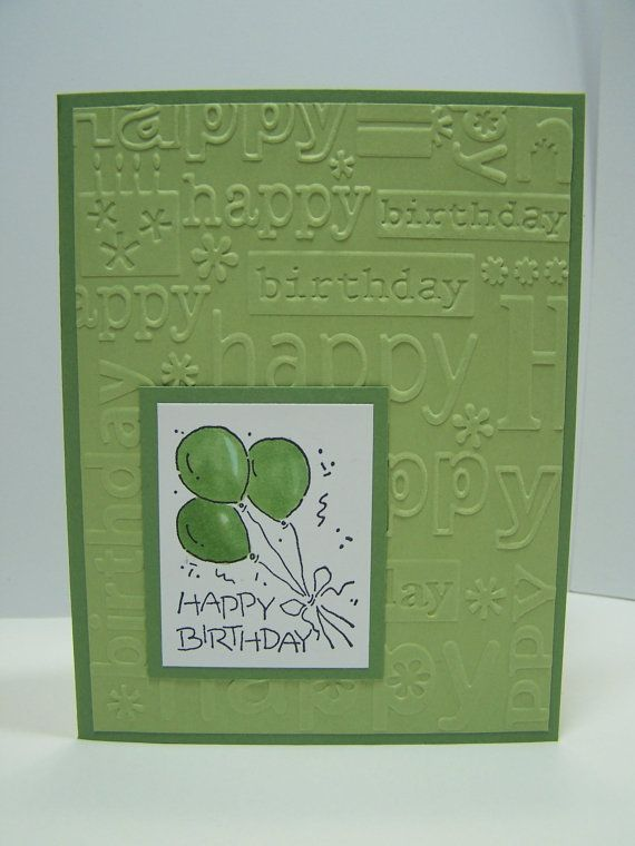 Stampin Up Handmade Greeting Card Birthday Card Masculine – Green Birthday Card